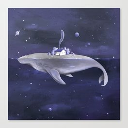 Galaxy Whale Canvas Print
