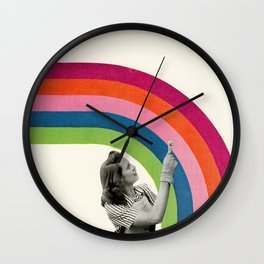 Paint a Rainbow Wall Clock
