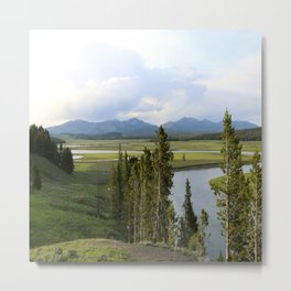 Yellowstone River Valley View Metal Print
