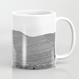 Road Outta Town // Black and White Landscape Photograph Going Out to Nowhere Peaceful Scenery Coffee Mug