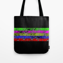 Stars N Stripes - Starry pattern in block colour stripes Tote Bag