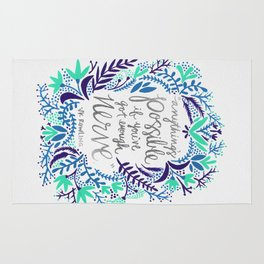 Anything's Possible – Silver & Blue Rug
