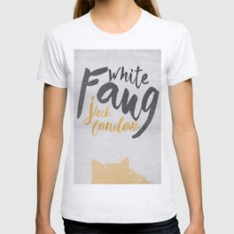 White Fang, Jack London book cover, poster, old classic, penguin book T-shirt
