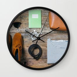 Get ready for the trip. Woman edition Wall Clock