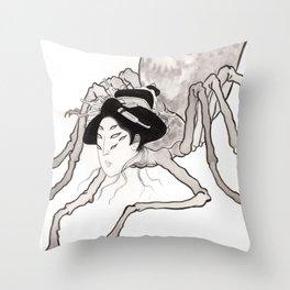 Spider Geisha Throw Pillow
