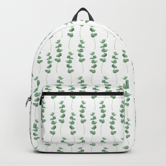 Eucalyptus polyanthemos leaves botanical illustration Rucksack