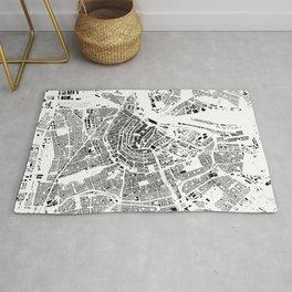 Amsterdam Map Schwarzplan Only Buildings Rug