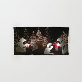 Polar Bear Christmas Hand & Bath Towel