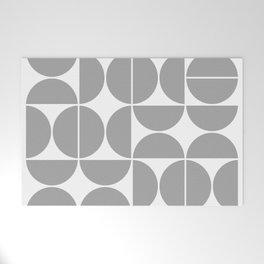 Mid Century Modern Geometric 04 Grey Welcome Mat