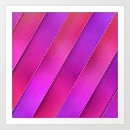 pink line Art Print