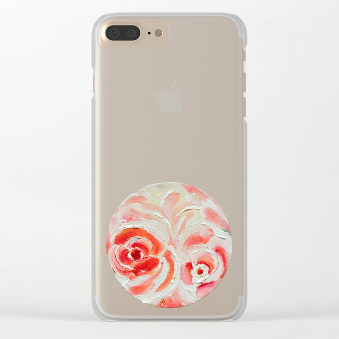 Peach Plums Clear iPhone Case