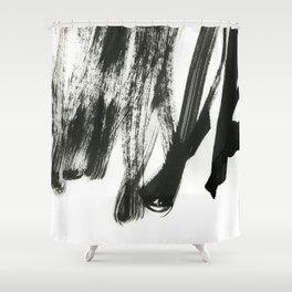 black on white 2 Shower Curtain