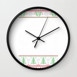 Knitters Christmas Yarny Little Christmas Knotty New Year T-Shirt Wall Clock