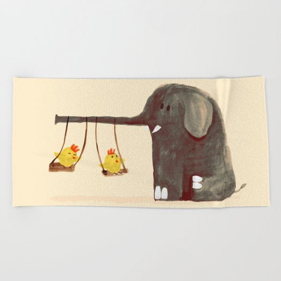 Elephant Swing Beach Towel