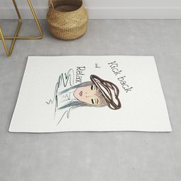 Motivational Art - Kick back and Relax Rug