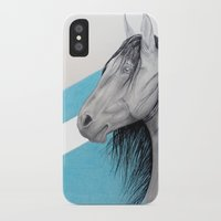 mustang iPhone & iPod Cases featuring Mustang by Putrizia Pine