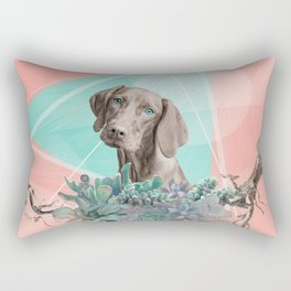 Eclectic Geometric Redbone Coonhound Dog Rectangular Pillow