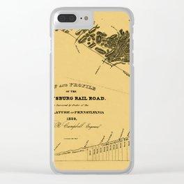 Gettysburg Railroad 1839 Clear iPhone Case