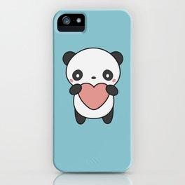 Kawaii Cute Panda With A Heart iPhone Case