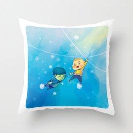Spirk winter adventure Throw Pillow