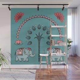 Celebrate Elephants Wall Mural