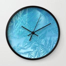 Hoar Frost: Diagonal Feathers Wall Clock