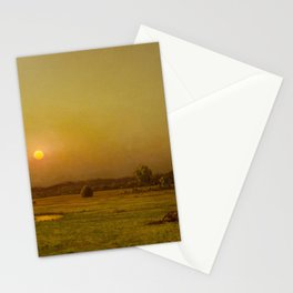 Martin Johnson Heade - Marsh Sunset, Newburyport, Massachusetts Stationery Cards