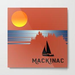 Vintage Mackinac Metal Print