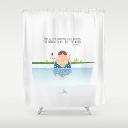 Tifanny - Swimmer Shower Curtain
