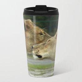 Lion Love Metal Travel Mug
