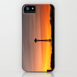 Space needle Sunset iPhone Case