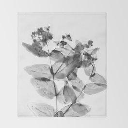 Ghostly Blooms Throw Blanket