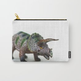 Fine Art Dinosaur Print: Triceratops Carry-All Pouch
