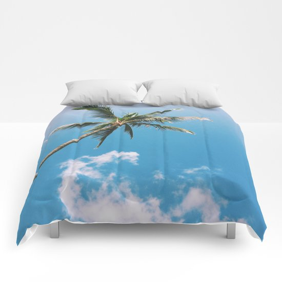 Clouds and Palms  Comforters
