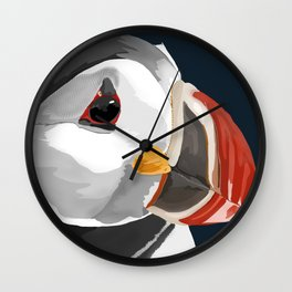 Pablo the Puffin Wall Clock