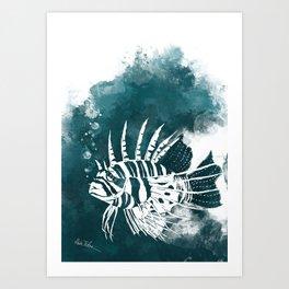 Feuerfisch Art Print
