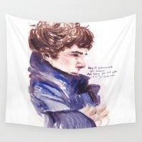 sherlock Wall Tapestries featuring Sherlock by Maryam Amjadi