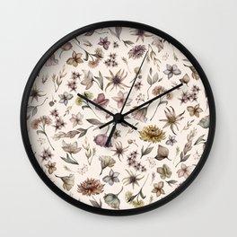 Botanical Study Wall Clock