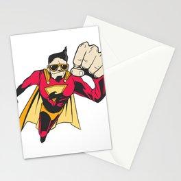 Superhero with sunglasses Stationery Cards