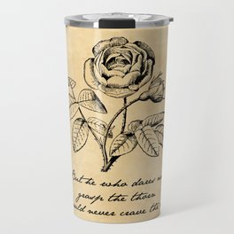 Anne Bronte - Crave the Rose Travel Mug