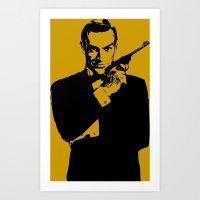james bond Art Prints featuring James Bond 007 by Walter Eckland