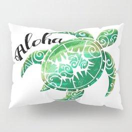 Vintage Hawaiian Distressed Turtle Pillow Sham