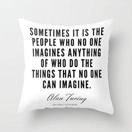 21     Alan Turing Quotes    190716   Throw Pillow