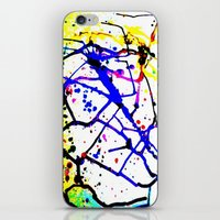splatter iPhone & iPod Skins featuring Splatter by TheAbstractGirl_Jess