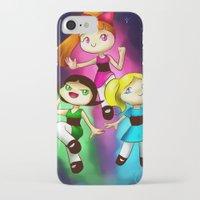 powerpuff girls iPhone & iPod Cases featuring Powerpuff girls by Lyxy