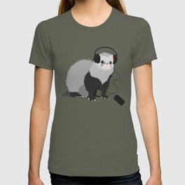 Music Loving Ferret T-shirt