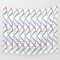 dna Wall Tapestries featuring DNA by FACTORIE