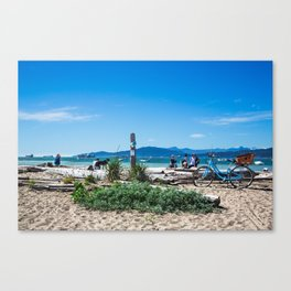 Life in blue Canvas Print