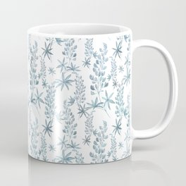 Winter patterns in blue. Coffee Mug