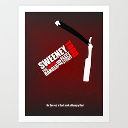 Sweeney Todd - Minimalist Word Cloud Art Print